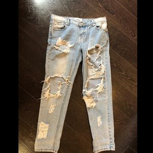 One teaspoon ripped jeans size 27
